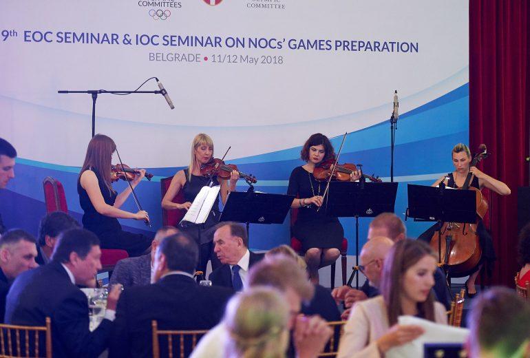 kvartet večera olimpijski komitet srbije